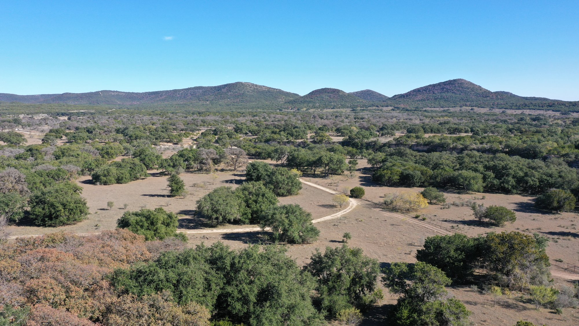 A view of the Texas hill country near Tarpley, Texas